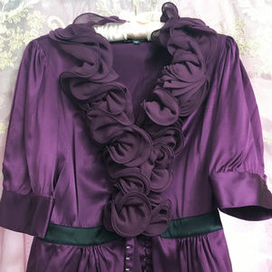bebe Blouse with Decorative Rosettes